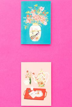 Celebrate mom with a fun and floral Mother's Day card.