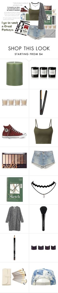 """#Alaska Young (Looking For Alaska)"" by aholmes1 ❤ liked on Polyvore featuring Crate and Barrel, Byredo, Shabby Chic, GHD, rag & bone, Monki, MAC Cosmetics, Maison Margiela, Sephora Collection and Mitchell & Ness"