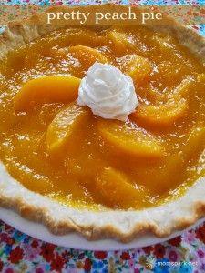 Pretty Peach Pie Recipe   Mom Spark™ - A Trendy Blog for Moms - Mom Blogger