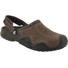 bd500e564bbca Crocs Swiftwater Leather Clo Water Sandals - Mens Espresso Black Crocs Men, Crocs  Shoes,