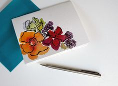 Thank You notes by watercolor artist and stationery designer Courtney Khail