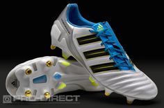 adidas Football Boots - adidas adipower Predator XTRX SG - Soft Ground - Soccer Cleats - White-Sharp Blue