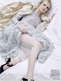 Skewed Lady - Olivia Hamilton by Kai Z Feng for Elle UK March 2016 - Simone Rocha