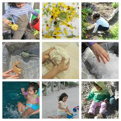 20+ Ideas for Natural Sensory Activities - No Waste sensory play for people who would prefer not to use food.