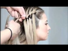 easy waterfall braid tutorial on yourself step by step for beginners - YouTube