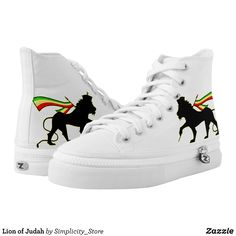 Lion of Judah High-Top Sneakers - Printed Unisex Canvas Slip-On #Shoes Creative Casual #Footwear #Fashion #Designs From Talented Artists - #sneakers #feet #fashion #design #fashiondesign #designer #fashiondesigner #style - Look sporty stylish and elegant in a pair of unique custom sneakers - Each pair of custom Low Top ZIPZ Shoes is designed so you can fit your style to any wardrobe mood party or occasion - Fashionable sneakers for kids and adults give you a unique and personalized way to…