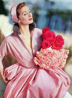 vintage-retro:  Suzy Parker, 1955