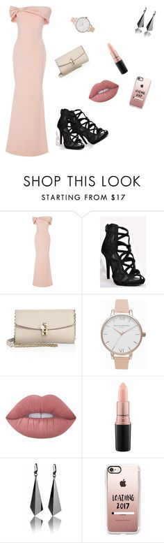 """""""Ska på fest"""" by jonna56 ❤ liked on Polyvore featuring Christian Siriano, Dolce&Gabbana, Olivia Burton, Lime Crime, MAC Cosmetics and Casetify"""