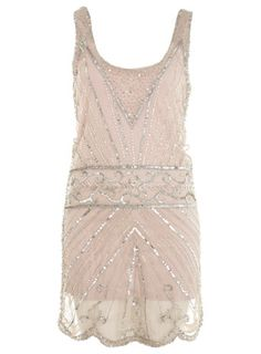 pretty.  looks kinda like a 20s flapper dress  silver embellished dress