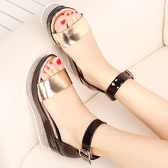 Find More Women's Sandals Information about 2016 Summer Women Sandals New Arrival %100 Good Quality Cow Split Leather Sewing Fashion Sandals New Come,High Quality sandals cross,China sponge bed Suppliers, Cheap sandals bronze from Huixia jiang on Aliexpress.com