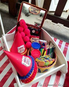 Photo props at a circus birthday party! See more party ideas at CatchMyParty.com!