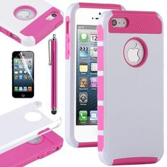 Pandamimi ULAK(TM) White & Rose Red Fashion Sweety Girls TPU + PC 2-Piece Style Soft Hard Case Cover for iPhone 5 5G with Free Screen Protector and Stylus by ULAK, http://www.amazon.com/dp/B00CEROLV6/ref=cm_sw_r_pi_dp_Eh2Hrb19SD04B
