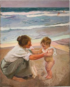Joaquín Sorolla y Bastida, By the Seashore, Valencia, 1908. Oil on canvas. Museum Purchase with Funds Provided by the Legler Benbough Foundation, 2014.133. San Diego Museum of Art