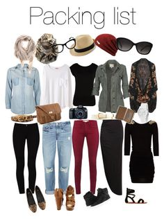 """Europe packing list"" by elle-013 ❤ liked on Polyvore"