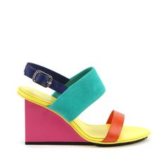 Solid Slingback Sandals Multi