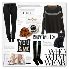 """""""What to Wear: Netflix Binge"""" by vanjazivadinovic ❤ liked on Polyvore featuring T By Alexander Wang, WhatToWear, netflix, polyvoreeditorial and zaful"""