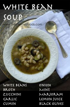White Bean Soup @ Traditional-Foods.com