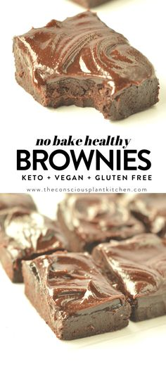 VEGAN NO BAKE BROWNIES without dates are easy, healthy, gluten free and keto friendly snacks with coconut flour and flaxmeal. Healthy Candy, Healthy Vegan Desserts, Vegan Dessert Recipes, Vegan Sweets, Low Carb Desserts, Healthy Baking, Delicious Desserts, Vegan Keto, Keto Snacks