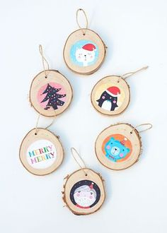 DIY PROJECT: ILLUSTRATED BIRCH CHRISTMAS ORNAMENTS