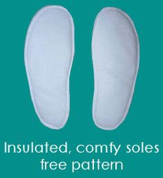 Insulated Shoe Sole Pattern, to keep the toes toasty