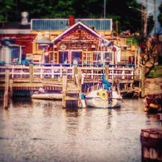 Thank you for sharing this colorful shot of Captain Lou's, Instagram friend @madimpressions! Lou's is the perfect spot to take in the Dyckman Drawbridge and all of the activity on South Haven's Black River! #PureMichigan