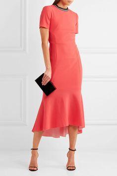 Rebecca Vallance - Breakers Open-back Cloqué Midi Dress - Red - UK Tea Length Dresses, Day Dresses, Dresses For Work, Short Dresses, Red Midi Dress, Peplum Dress, Pronovias, Couture, Trends