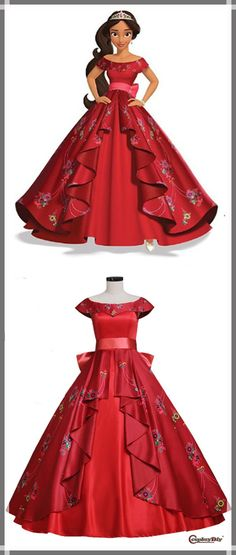 CosplayDiy Women's New Arrival Elena of Avalor Elena Dress Cosplay For Halloween Kids Party Wear Dresses, Kids Dress Wear, Kids Gown, Dresses Kids Girl, Girl Outfits, Flower Girl Dresses, African Dresses For Kids, African Wear Dresses, Baby Girl Dress Patterns