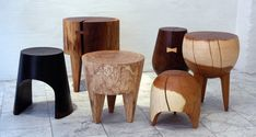 kieran kinsella | kieren is a sculptor and his stools are works of art…