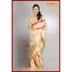 Assam Tassar Silk (Toss Muga) Mekhela Chadar