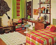 Vintage Goodness Vintage Decorating for Children's Rooms - 1971 70s Bedroom, Retro Bedrooms, Teen Bedroom, Art Decor, Home Decor, Vintage Decor, Feng Shui, Room Inspiration, Living Spaces