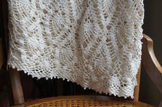Vintage Hand Crocheted Round Tablecloth. Ivory. by smileitsvintage, $34.00