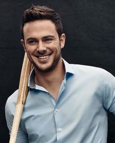 """Kris Bryant of the Chicago Cubs.    """"Excited to announce my partnership with @ExpressRunway for their spring campaign! #ExpressMen"""""""