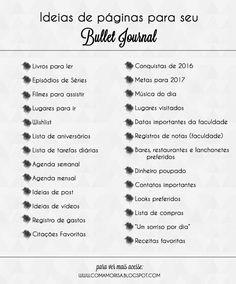 Nesse post eu te conto um pouco sobre o método de organização Bullet Journal - ou BuJo. O que é, ideias de páginas e o meu próprio bullet journal!