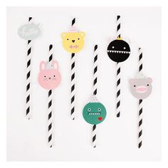 Straws paper x 25 by My little day available in store and online www.bobokids.co.uk