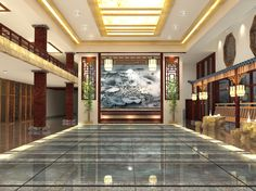 2015 Graduate Design_Yun Lin Shan Ju Resort Hotel Interior Design_Lobby_Front View