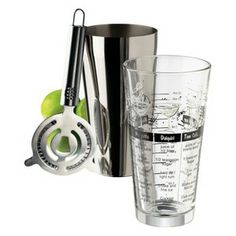Libbey Cocktail Shaker with Mixing Glass Set of 3 : Target Mobile