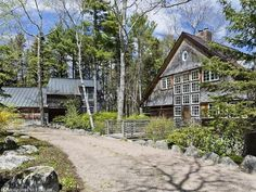 Architecturally designed 'Waldhaus' on Kimball Road in Northeast Harbor, Maine. This property is listed by The Swan Agency Sotheby's International Realty.