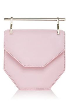 Mini amor fati in pastel pink by M2MALLETIER for Preorder on Moda Operandi