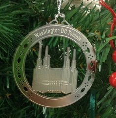 Personalized Was DC Temple High Staniless Steal  Custom Christmas Ornament