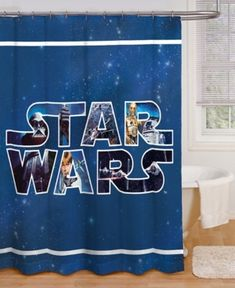 For the kid's bathroom.   Star Wars shower curtain.    They're going to LOVE it!  #affiliate #ad
