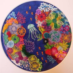Another coral piece I finished a while back. Incorporated beads this time. CCW : Embroidery Diy Embroidery Flowers, Hand Embroidery Stitches, Embroidery Patches, Modern Embroidery, Embroidery Hoop Art, Beaded Embroidery, Machine Embroidery, Embroidery Designs, Creative Embroidery
