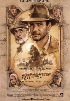 """Indiana Jones and the Last Crusade"" Director: Steven Spielberg, Stars: Harrison Ford, Sean Connery, Denholm Elliott Film Movie, See Movie, 80s Movies, Action Movies, Great Movies, Movies To Watch, Famous Movies, Comedy Movies, Horror Movies"