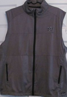 Ahead Men's Golf Vest,XL, Grey, Full Front Zip, Sleeveless, New With Tags #Ahead#trump
