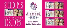 Galaxy Diamond Plaza is one of the new and model business ventures in Noida Extension. The complex is situated at Gaur Chowk close to Gaur City Mall and proposed metro system.  http://www.galaxydiamondsplaza.in/