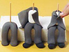 Resultado de imagen para como teñir pasta de goma gris