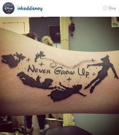 Peter Pan Never Grow Up Tattoo