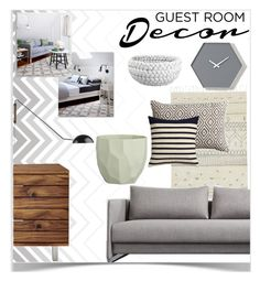 """""""Guest Room Makeover!"""" by kmvr316 ❤ liked on Polyvore featuring interior, interiors, interior design, home, home decor, interior decorating, Seed Design, CB2 and Room Essentials"""
