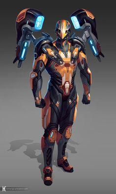 ArtStation - Avatar Ang sci fi re-imagining , Nemanja Stankovic Armadura Sci Fi, Armadura Ninja, Robot Concept Art, Armor Concept, Batman Concept, Science Fiction, Avatar Ang, Arte Robot, Futuristic Armour