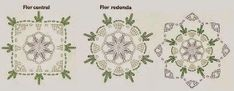 Doily f&l diagram 3 Crochet Motifs, Thread Crochet, Crochet Granny, Crochet Doilies, Crochet Flowers, Crochet Patterns, Beau Crochet, Christmas Items, Beautiful Crochet