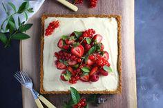 Summer Berry Tart with Lemon Mascarpone Cream | use tart shell from cheese n jam blog
